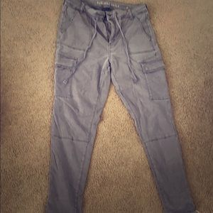 Cargo pants, super stretchy, fit baggy